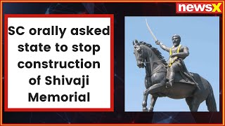 After SC notice, PWD asks contractor to stop work on Shivaji memorial - NEWSXLIVE