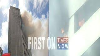 Massive fire at LIC building in Kolkata - TIMESOFINDIACHANNEL