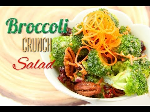 Broccoli Crunch Salad Recipe :: Vegan