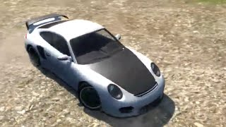 beamng drive porsche 911 box truck mountain cliff test track. Black Bedroom Furniture Sets. Home Design Ideas