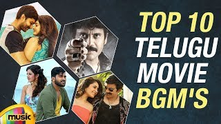 Top 10 Telugu Movie BGMs | Latest Telugu Background Music | Back to Back Super Hit Songs BGMs - MANGOMUSIC
