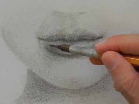Como dibujar una boca - Dibujando labios