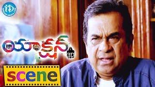 Action 3D Movie Scenes - Brahmanandam Mocking Sudeep || Allari Naresh || Vaibhav - IDREAMMOVIES