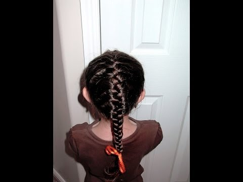 SImple instruction on how to do a french braid on your little girl's hair.