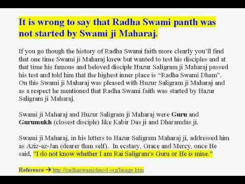 REPLY TO SANT RAMPAL -Radha Soami Panth - The History Part 1