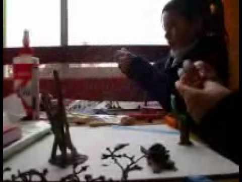 Preparación de una maqueta de pueblos nómadas  y sedentarios