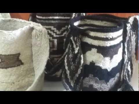 artesanías wayuu como mantas wayuu, chinchorros y mochilas guajiras