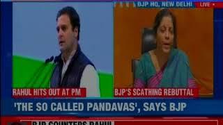 Defense Minister Nirmala Sitharaman hits back at Rahul Gandhi over Congress Plenary Session - NEWSXLIVE