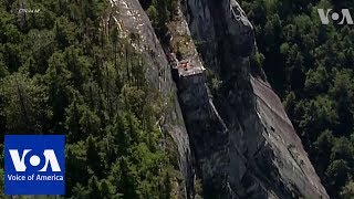 Man rescued from cliff in western Canada - VOAVIDEO