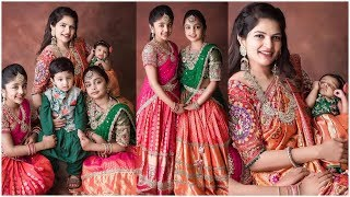 Viranica Manchu & Her Kids In Traditional Outfits |  Tollywood Updates - RAJSHRITELUGU
