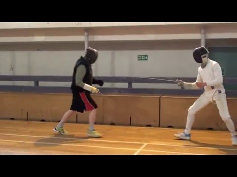 Foil Fencing Lesson Adam Blight & Ayman   2