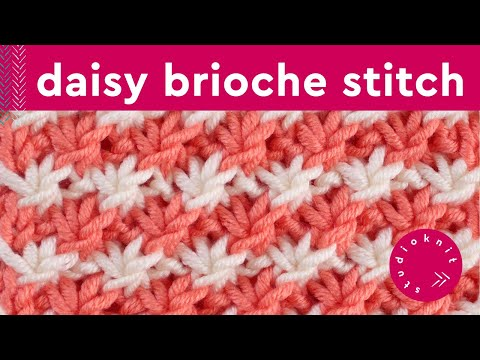 How to Knit the DAISY FLOWER STITCH