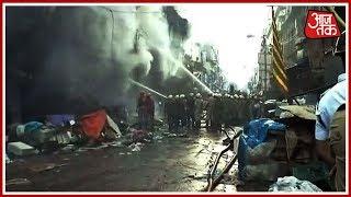 Kolkata के Canning Street के बाज़ार में लगी भीषण आग   Breaking News - AAJTAKTV