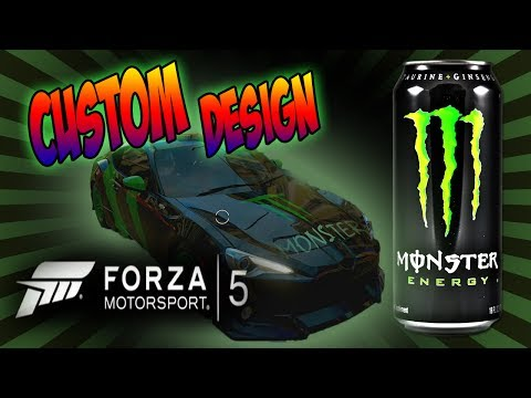 [ Forza 5 ] Custom Paint Job - Monster Energy Car