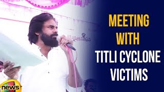 Pawan Kalyan Meeting With Titli Cyclone Victims In AkkuPalli, Srikakulam | Mango News - MANGONEWS