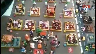 Couple creates Man History with Idols   Hyderabad   Sankranthi Special   CVR News - CVRNEWSOFFICIAL