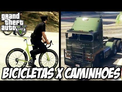 GTA V - Bicicletas x Caminhões MODO NOVO