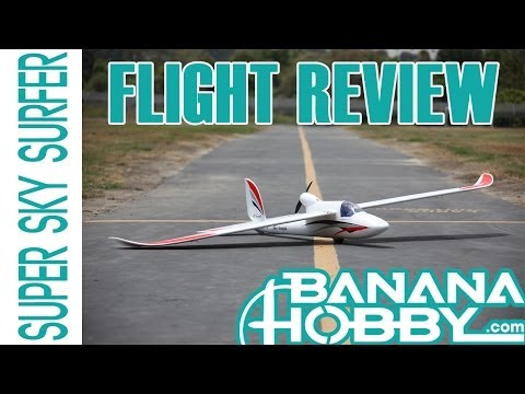 Sky Surfer! RTF Electric RC Glider FLIGHT REVIEW! In HD! bananahobby.com!
