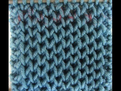 Πλέξιμο -  Κυψελωτή πλέξη - Honeycomb Brioche