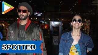 SPOTTED: Alia Bhatt and Ranveer Singh @Mumbai Airport - HUNGAMA