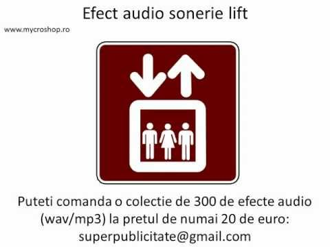 Efect audio sonerie lift. Elevator bell sound effects.