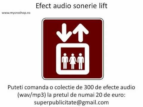 Efect audio sonerie lift. Elevator bell sound effects.