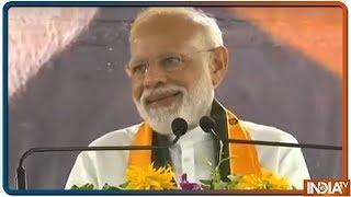 PM Modi Addresses Supporters In Varanasi - नया भारत सेहता और कहता नहीं आतंक को मुंहतोड़ जवाब देता है - INDIATV