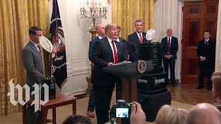 Trump welcomes the Clemson Tigers to the White House - WASHINGTONPOST