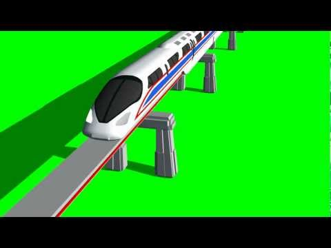 "train - Monorail - train passes over bridge - ""free Chroma Key Effects"""