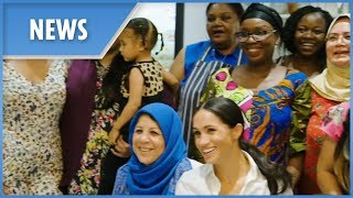 Meghan Markle visits community kitchen started by women from the Grenfell Tower fire disaster - THESUNNEWSPAPER