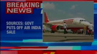 Government Puts Air India Stake Sale On Hold - NEWSXLIVE