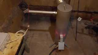 Печь на отработанном масле (отработке) 10кВт с маслонасосом . Отопление гаража.
