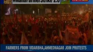 Thousands begin march from Thane to Mumbai; demand loan waiver, drought compensation - NEWSXLIVE