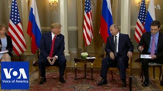 Trump-Putin Summit in Helsinki Underway - VOAVIDEO