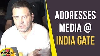 Congress President Rahul Gandhi Addresses Media at India Gate on Ongoing Cases | Mango News - MANGONEWS
