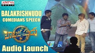 Balakrishnudu Movie Comedians Hilarious Speech - Balakrishnudu Movie Audio Launch Live - ADITYAMUSIC