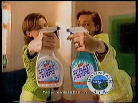 Spray N' Wipe ad late 90s