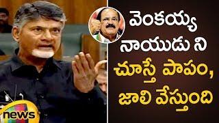 Chandrababu Naidu Satirical Comments On Venkaiah Naidu   AP Assembly 2019   AP Elections Updates - MANGONEWS