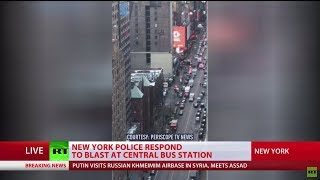 3 injured, suspect arrested in Manhattan explosion - RUSSIATODAY