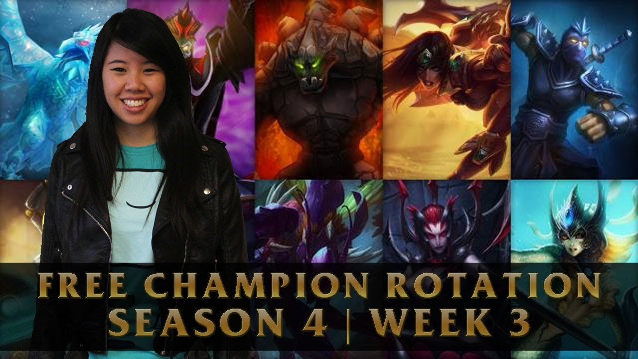 Free League of Legends Champions Counters Season 4 | Week 3