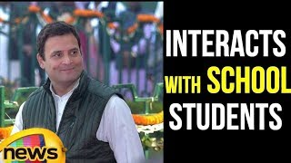 Congress President Rahul Gandhi Interacts with School Students in Amethi | Mango News - MANGONEWS