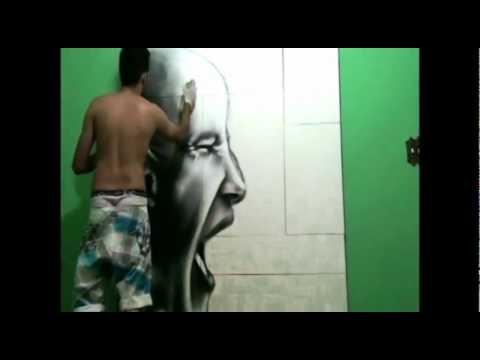 Grafite pinta cores de reflexão social na paisagem urbana
