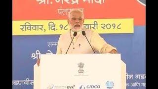 Mumbai: PM Modi at foundation stone laying ceremony of Navi Mumbai International Airport - ABPNEWSTV