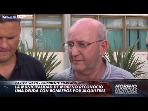 La municipalidad de Moreno reconoció una deuda con Bomberos por alquileres