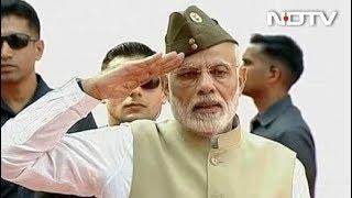 आजाद हिंद सरकार की 75वीं वर्षगांठ, लाल किले पर पीएम मोदी ने फहराया तिरंगा - NDTVINDIA