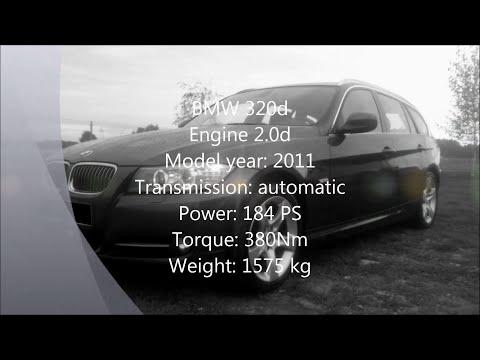 Video: BMW 320d įsibėgėjant nuo 0 iki 200 km/h -