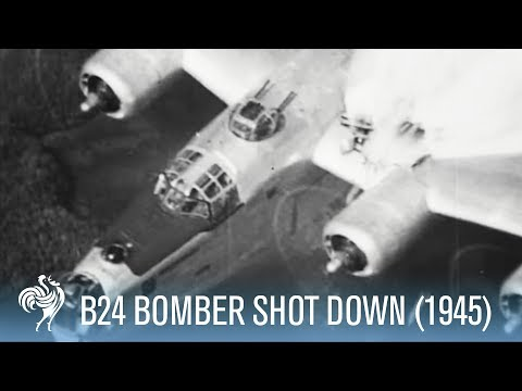 B24 Bomber Shot Down - Incredible Footage, [Full Resolution]