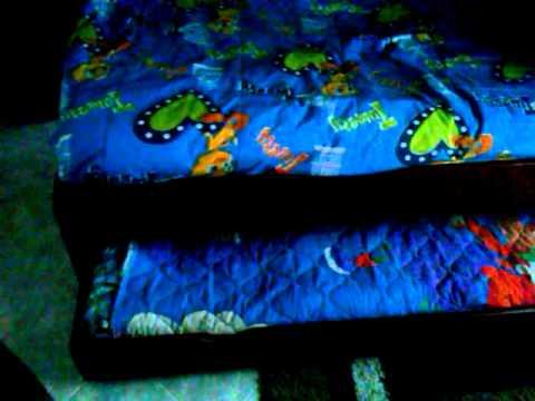 camarote madera para niños con cama auxiliar