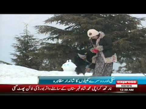 swat snow festival 2014 in malam jabba skiing last day Report by sherin zada
