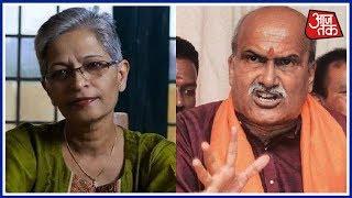 Sri Ram Sene Chief Pramod Muthalik Likens Gauri Lankesh To A Dog - AAJTAKTV